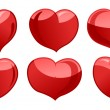 A set of hearts — Stockvector  #63776213
