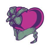 Heart tattoo. — Stock Vector
