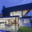 Modern home at dusk — Stock Photo