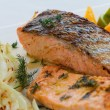 Grilled salmon — Stock Photo #59865999