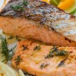 Grilled salmon — Stock Photo #59866053