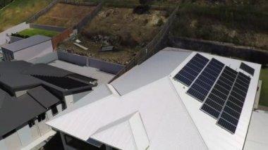 Solar panels on roof — Stock Video