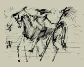 Don Quixote — Stockvektor