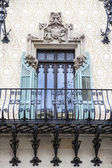 Rich decorated facade with balcony of the Modernist Casa Amatller house in Barcelona, Catalonia, Spain — Stock Photo
