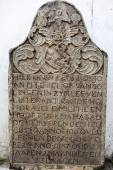 Dutch grave stone in the Wolvendaal Church - a Dutch Reformed Christian Colonial VOC Church in Colombo, Sri Lanka - Asia — Foto de Stock