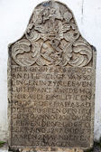 Dutch grave stone in the Wolvendaal Church - a Dutch Reformed Christian Colonial VOC Church in Colombo, Sri Lanka - Asia — Stockfoto
