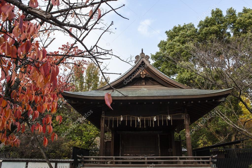 Ueno Park Autumn Temple in Ueno Park