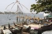 フォート コーチン、ケララ州、南インドで、中国の漁網 (によるチーナガス vala — ストック写真