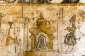 Mural inside Brihadishwara Temple in Tanjore (Thanjavur) - Tamil Nadu - South India — Stock Photo