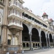 Facade of Maraja's Palace in Mysore, Karnataka - South India — Stock Photo #68172601
