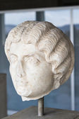 Marble head of a Greek woman, Ancient Agora, Athens, Greece — Stock Photo