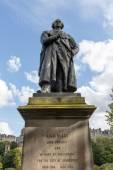 Adam Black statue near Walter Scott monument in Edinburgh, Scotland, United Kingdom — Stock Photo