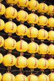 Wall of Yellow Lanterns — Stockfoto