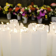 Candles And Flowers In Buddhist Temple — Stock Photo #60287261