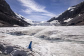 Glacial Meltwater On Columbia Ice Cap — Stock Photo