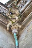 Stonemason Gargoyle Over Drain — Stock Photo