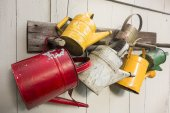 Five Watering Cans — Stock Photo