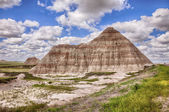One Mountain In The Badlands — Stock Photo