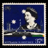 Australia stamp shows Queen Elizabeth II — Stock Photo