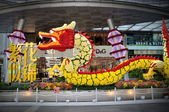 Chinese New Year Dragon Decoration in the New Bridge Road — Stock Photo