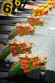 Dragon Boats at the dock. — Stock Photo