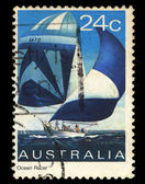 Australia stamp shows Sailing Ship — Stock Photo