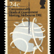 Australia stamp shows Commonwealth Heads of Government Meeting, Melbourne — Stock Photo #54770225