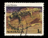 Australia stamp shows Lace Monitor — Stock Photo
