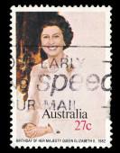 Australia, stamp shows Birthday of her majesty Queen Elizabeth II — Stock Photo