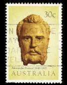 Australia stamp shows Alexander Forrest — Stock Photo