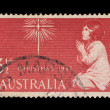 Australia stamp showing an image of a girl praying to a star — Stock Photo #56127549