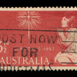 Australia stamp showing an image of a girl praying to a star — Stock Photo #56129293