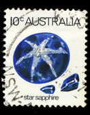 Australia stamp shows Star sapphire — Stock Photo