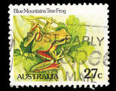 Australia stamp shows Blue Mountains tree frog — Стоковое фото