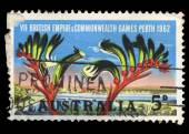 Australia stamp shows VII British Empire & Commonwealth Games Perth — Stock Photo