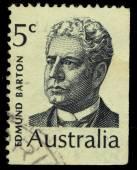 Australia stamp shows Edmund Barton (Prime Minister of Australia) — Stock Photo