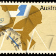 A stamp printed in Australia shows Olympic (Cycling) — Stock Photo #59137825