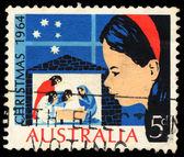 Razítko v Austrálii ukazuje Vánoce — Stock fotografie