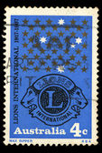 A stamp printed in Australia shows Lions International (1917 - 1967) — Stock Photo