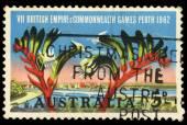 A stamp printed in Australia shows VII British Empire & Commonwealth Games Perth — Stock Photo