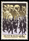 Australia stamp shows image of the anzac tradition — Φωτογραφία Αρχείου