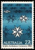 Australia stamp shows st john ambulance centenary — Stock Photo