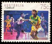 Australia STAMP shows Netball — Stock Photo