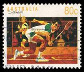 Australia stamp shows Squash — Stock Photo