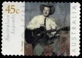 Australia stamp shows Musician - Slim Dusty — Stock Photo