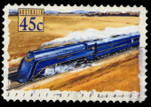 Australia stamp shows the Spirit of Progress, Locomotive — Stock Photo