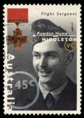 Australia stamp shows Flight Sergeant, Rawdon Hume Middleton — Stock Photo