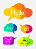 Set of abstract talk bubbles — Stock Vector