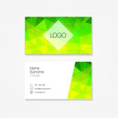 Polygonal business card. Vector illustration. — Stock Vector