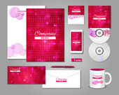 Fashionable corporate identity template design — Stock Vector